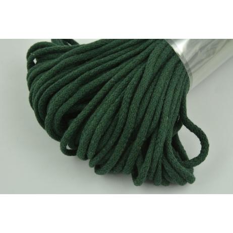 Sznurek bawełniany 6mm butelkowa zieleń (miękki)