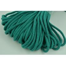 Sznurek bawełniany 6mm morska zieleń (miękki)