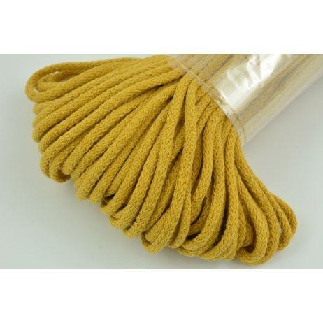 Cotton Cord 6mm mustard (soft)