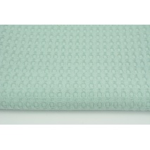 Cotton 100%, waffle fabric XL smoky mint