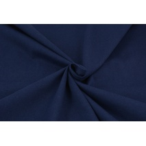 Cotton knitwear, plain navy II quality