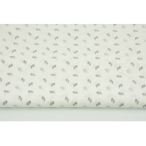 Cotton 100% small gray and beige leaves CZ