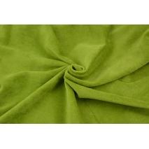 Dzianina welur, zielony