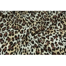 Viscose with elastane, panther pattern brown