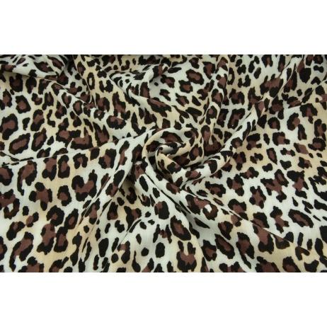 Viscose with elastane, panther pattern brown