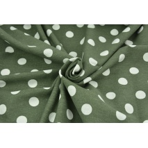 Viscose with linen, khaki with white dots 18mm