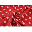 Viscose with linen, red with white dots 18mm