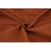 Double gauze 100% cotton plain brick red