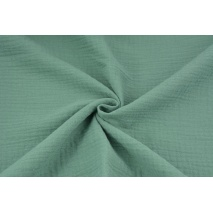 Double gauze 100% cotton plain sage