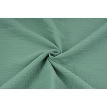 Double gauze 100% cotton plain sage