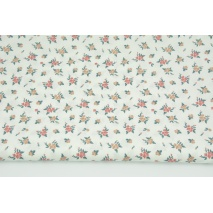 Cotton 100% flowers on a white background, poplin