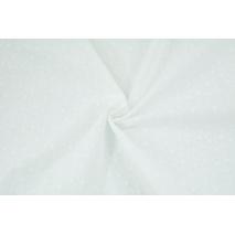 Bawełna 100% haftowana w kwiatki, biała