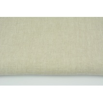 100% plain linen in a natural color, softened