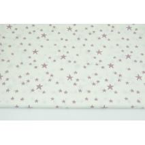 Bawełna 100% nieregularne gwiazdki wrzosowe na białym tle