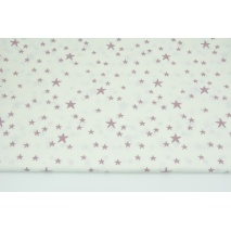 Cotton 100% irregular heather stars on a white background