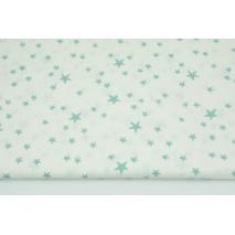 Bawełna 100% nieregularne gwiazdki szałwiowe na białym tle