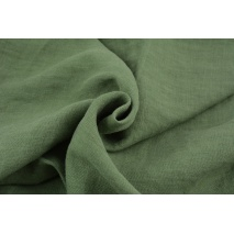 100% plain linen in a khaki color, softened 180g/m2