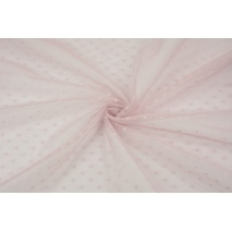Soft tulle with small dots, dirty heather
