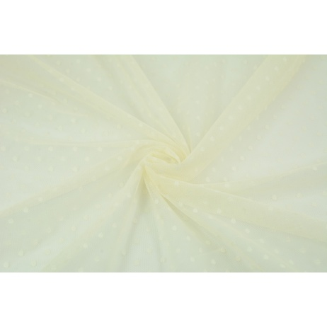 Soft tulle with small dots, creamy