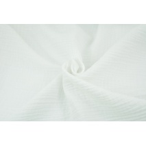 Double gauze 100% cotton plain white 2