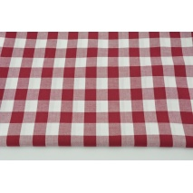 Cotton 100% double-sided bordeaux vichy check 2cm