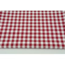 Cotton 100% double-sided bordeaux vichy check 1cm