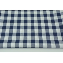 Cotton 100% double-sided navy blue vichy check 2cm
