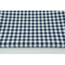 Cotton 100% double-sided navy blue vichy check 1cm