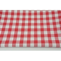 Cotton 100% double-sided red vichy check 2cm