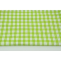 Cotton 100% double-sided light green vichy check 1cm