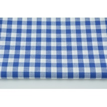 Cotton 100% double-sided dark blue vichy check 1cm