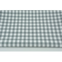 Cotton 100% double-sided grey vichy check 1cm