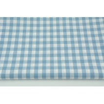Cotton 100% double-sided blue vichy check 1cm