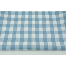 Cotton 100% double-sided blue vichy check 2cm