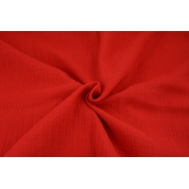 Double gauze 100% cotton plain red