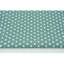 Cotton 100% white stars 1cm on a dark azure background, poplin