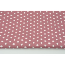 Cotton 100% white stars 1cm on a dark heather background, poplin