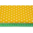 Cotton 100% white stars 1cm on a yellow background, poplin
