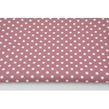 Cotton 100% white dots 7mm on a dark heather background, poplin