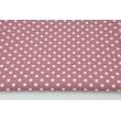 Cotton 100% white dots 7mm on a dark heather background, poplin