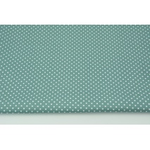 Cotton 100% white dots 2mm on a dark azure background, poplin