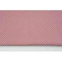 Cotton 100% white dots 2mm on a dark heather background, poplin