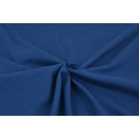 Cotton knitwear in the sleeve, plain dark blue