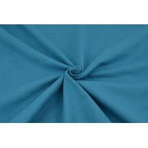 Knitwear 100% cotton plain dark turquoise