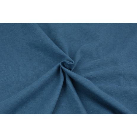 Knitwear 100% cotton plain subdued blue