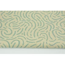 Decorative fabric, chilly mint design on a linen background 200g/m2