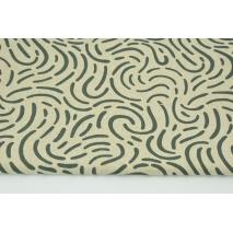Tkanina dekoracyjna, deseń kamienny szary na lnianym tle 200g/m2