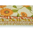 Decorative fabric, ginger design on a linen background 200g/m2