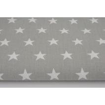 Cotton 100% stars 20mm on a light gray background szer.150 cm
