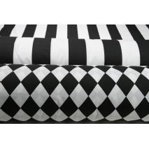 Cotton 100% black stripes 8cm II quality